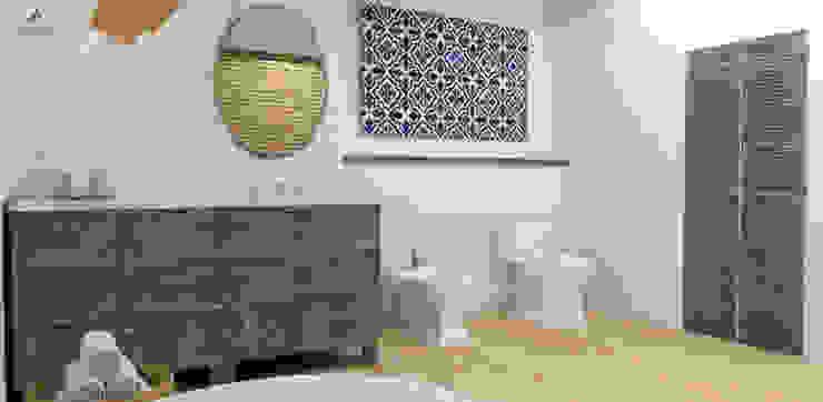 Rustic style bathroom by Artenova Design Rustic