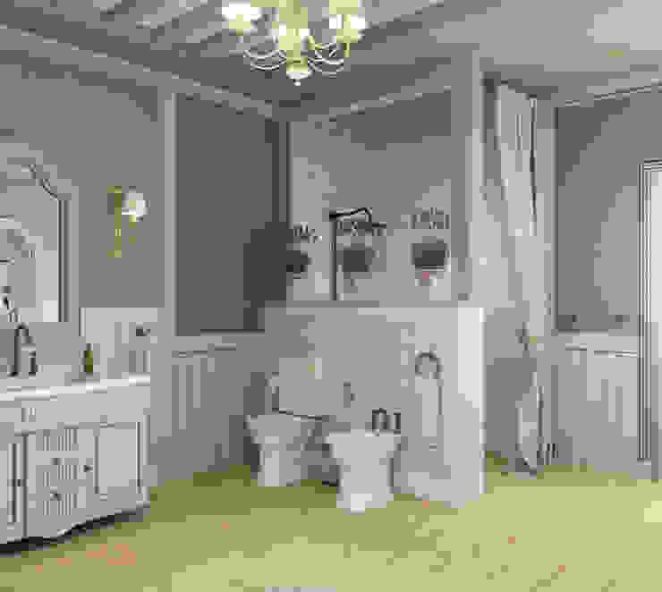 ванная комната в частном доме Ванная комната в стиле кантри от Eclectic DesignStudio Кантри
