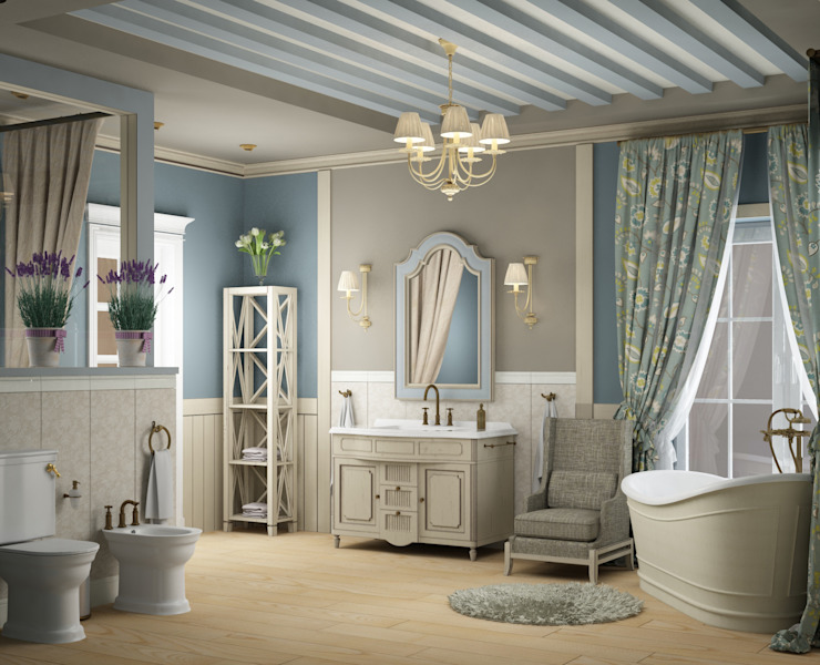 Eclectic DesignStudio Country style bathroom