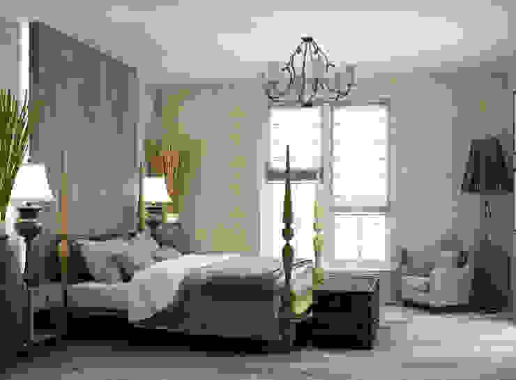 спальная комната в частном доме Спальня в эклектичном стиле от Eclectic DesignStudio Эклектичный