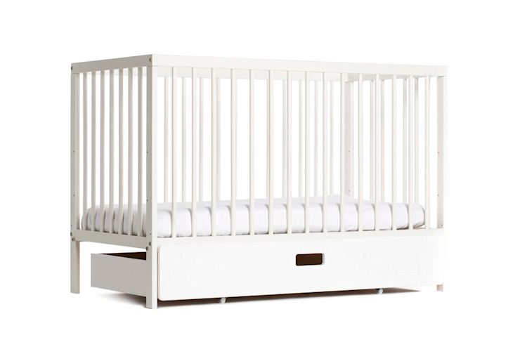White moKee Mini Cot: classic  by moKee, Classic Wood Wood effect
