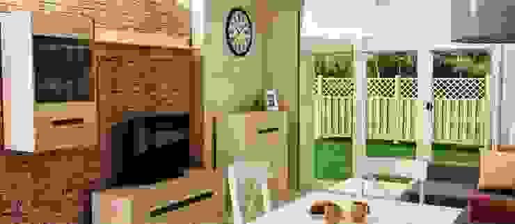 Mieszkanie styl vintage cottage rustykalny Rustykalna jadalnia od Artenova Design Rustykalny