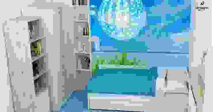 pokój dziecka niebieska łąka Artenova Design Nowoczesny pokój dziecięcy