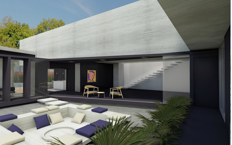 CASA TTTBN Jardines minimalistas de Najmias Oficina de Arquitectura [NOA] Minimalista