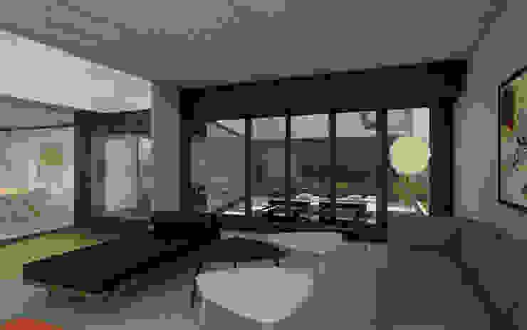 CASA TTTBN Salones minimalistas de Najmias Oficina de Arquitectura [NOA] Minimalista