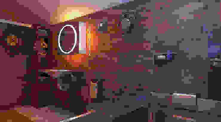 Architoria 3Dが手掛けた浴室, インダストリアル