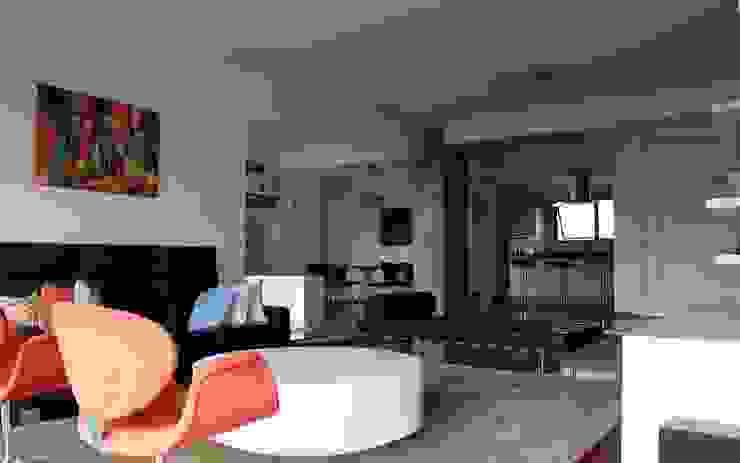 Mediterrane Wohnzimmer von Najmias Oficina de Arquitectura [NOA] Mediterran