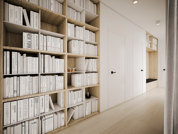 Corridor & hallway by zwA Architekci, Scandinavian