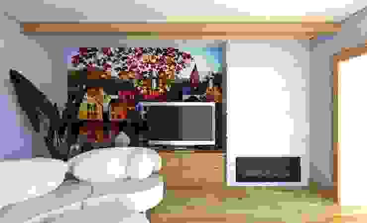 Гостиная для семьи из двух человек Гостиная в скандинавском стиле от Андреева Валентина Скандинавский