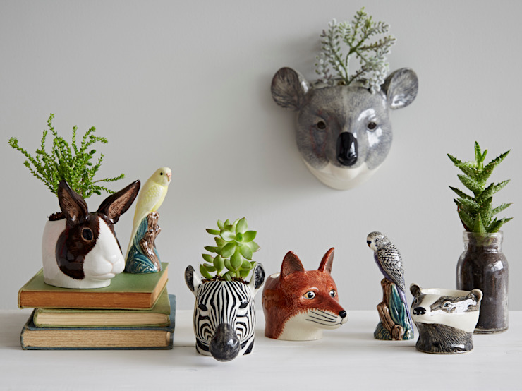 Animal Head Wall Vase: eclectic  by rigby & mac, Eclectic
