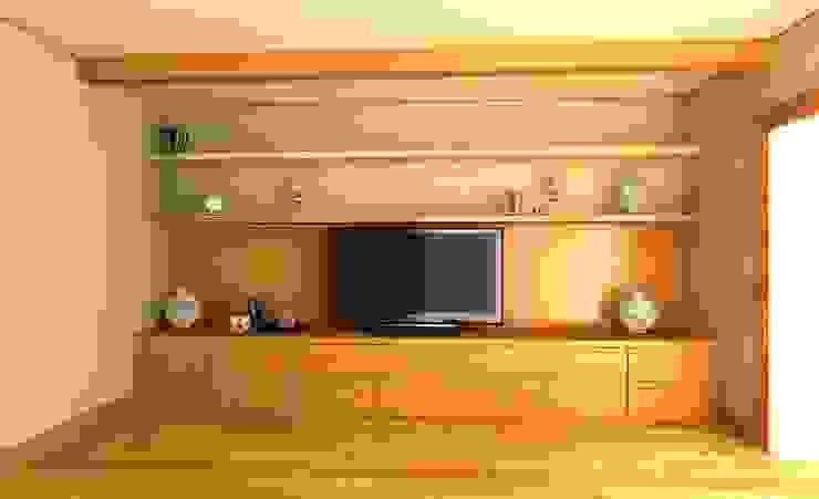 Гостиная для семьи из двух человек Гостиная в стиле минимализм от Андреева Валентина Минимализм