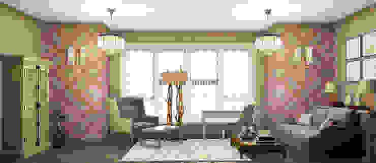 кабинет в частном доме Рабочий кабинет в стиле кантри от Eclectic DesignStudio Кантри
