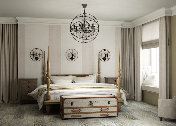 Bedroom by Eclectic DesignStudio, Country