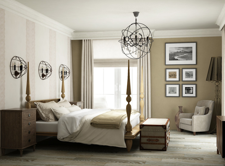 Country style bedroom by Eclectic DesignStudio Country