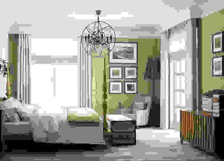 спальня в частном доме Спальня в стиле кантри от Eclectic DesignStudio Кантри