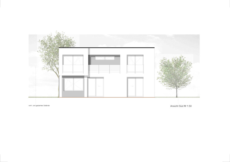 Neubauobjekt in Bad Homburg Moderne Häuser von Architekturbüro Pieper-Ballenberger Modern
