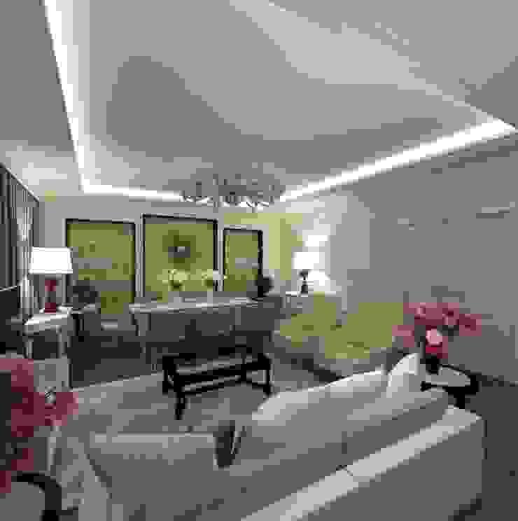 гостиная/столовая Гостиная в классическом стиле от Eclectic DesignStudio Классический