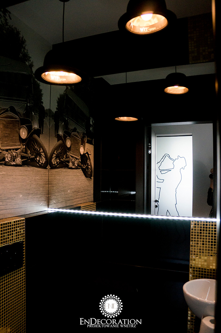 Dom pod Białymstokiem. Nowoczesna łazienka od EnDecoration Nowoczesny