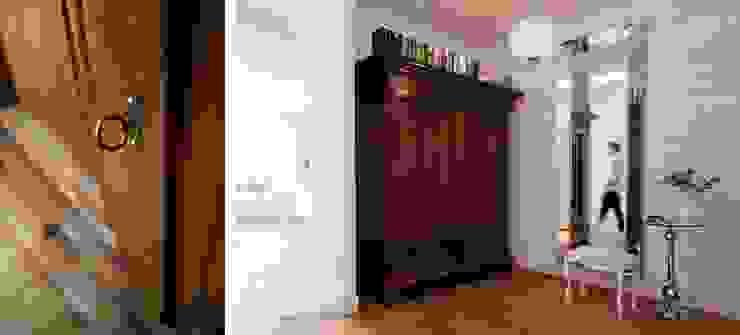 Pasillos, vestíbulos y escaleras de estilo ecléctico de Bargański Pracownia Wnętrz Ecléctico