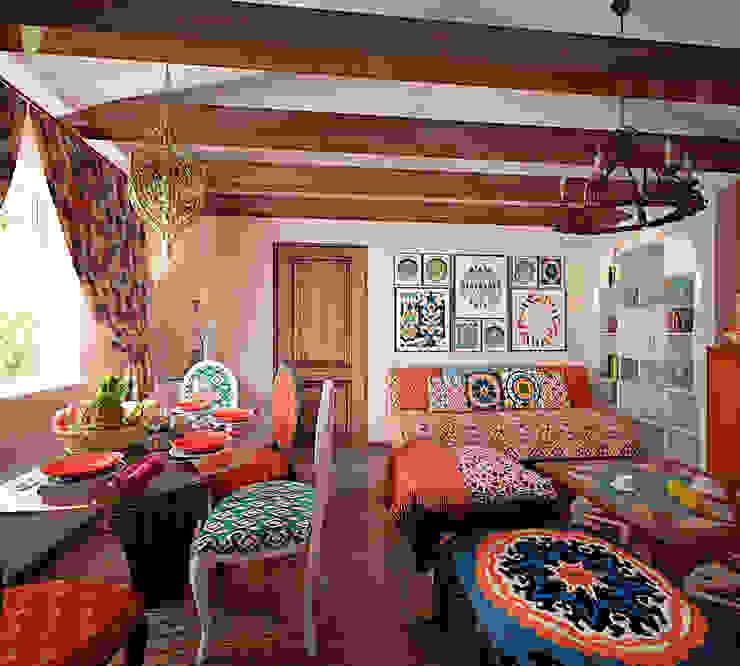Комната с восточным колоритом Гостиная в стиле кантри от студия Виталии Романовской Кантри