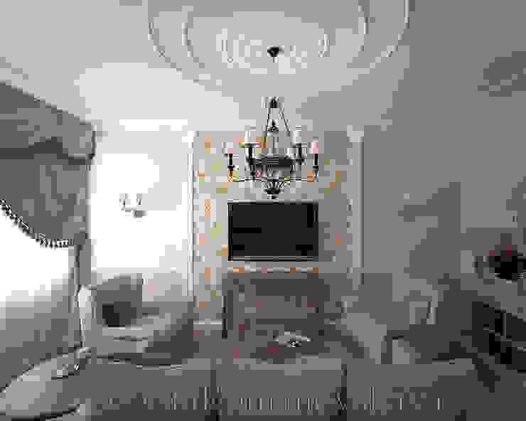 Московский Прованс Гостиная в классическом стиле от студия Виталии Романовской Классический