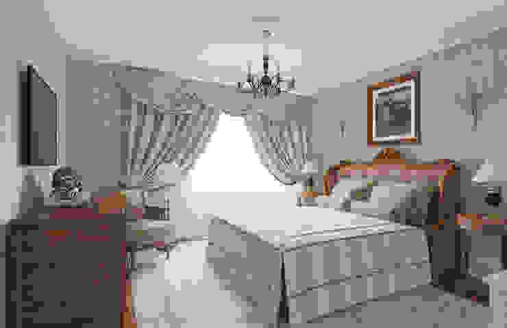 Визуализация интерьера спальни. Автор проекта Надежда Штрымова. Спальня в классическом стиле от Aleksandra Kostyuchkova Классический