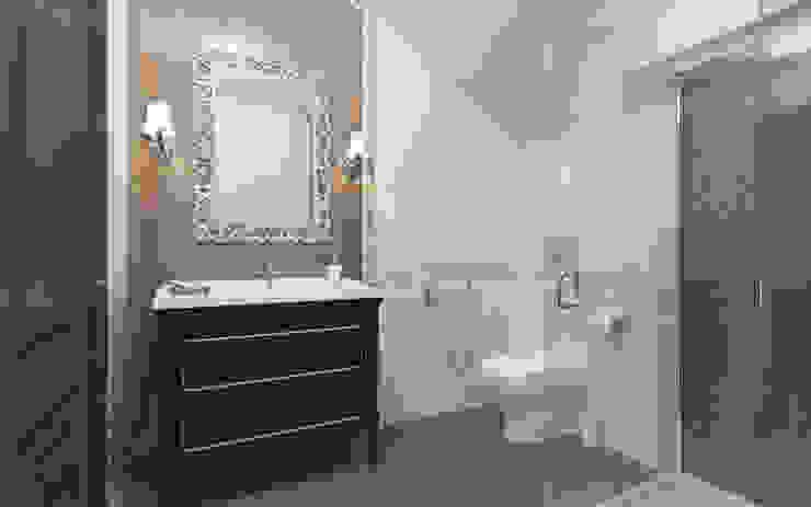 Интерьер гостевого санузла. Ванная в классическом стиле от Aleksandra Kostyuchkova Классический