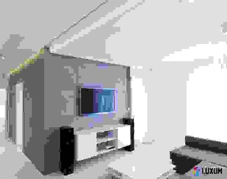 Płyty z betonu od Luxum Nowoczesny salon od Luxum Nowoczesny