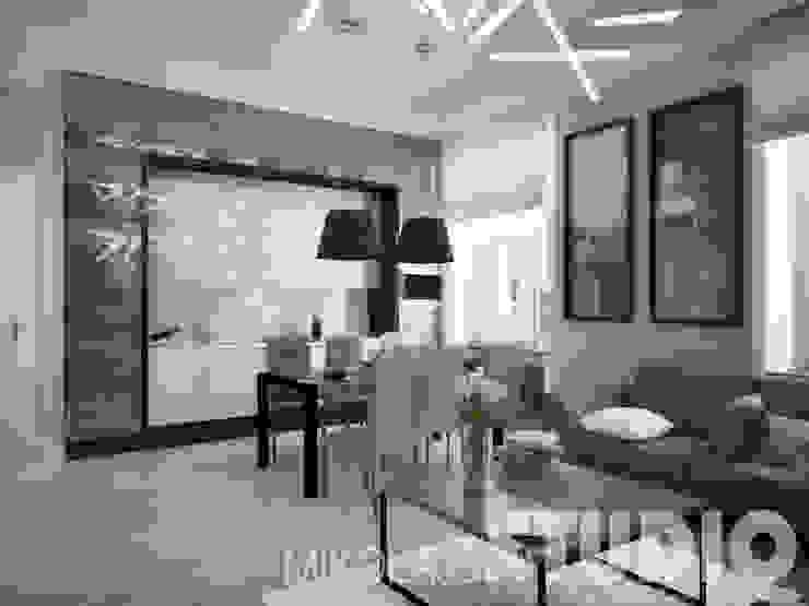 Modern living room by MIKOŁAJSKAstudio Modern