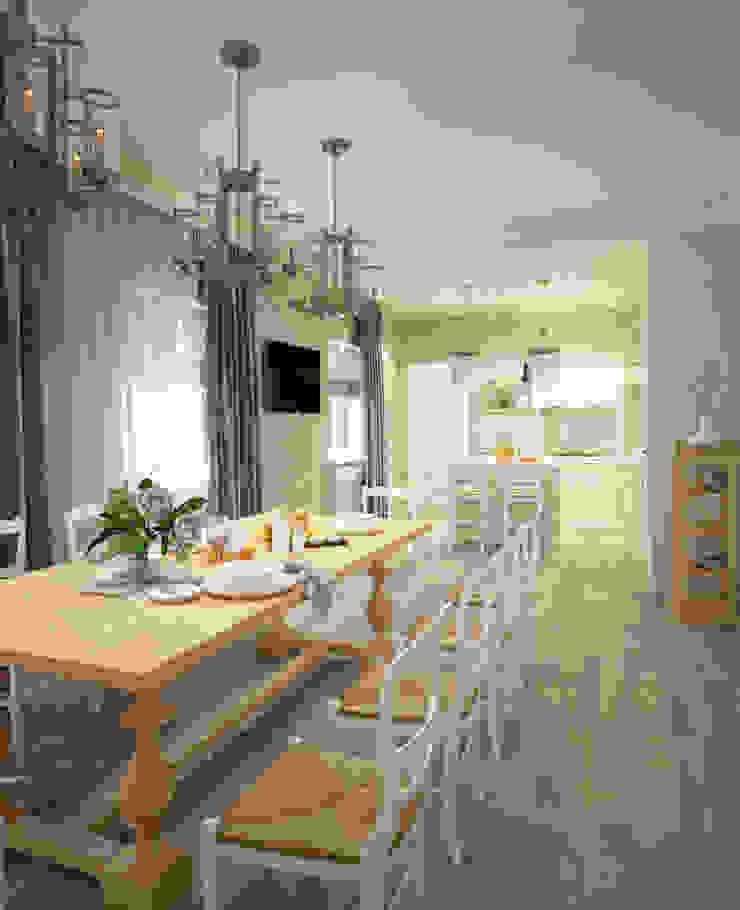 Кухня/столовая в частном доме Столовая комната в классическом стиле от Eclectic DesignStudio Классический