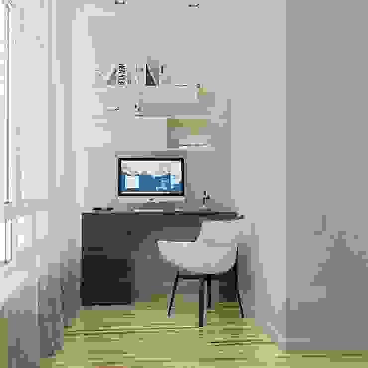 Phòng học/văn phòng phong cách tối giản bởi Kristina Petraitis Design House Tối giản