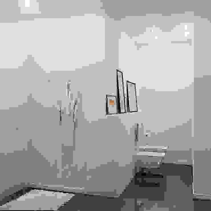 Phòng tắm phong cách tối giản bởi Kristina Petraitis Design House Tối giản