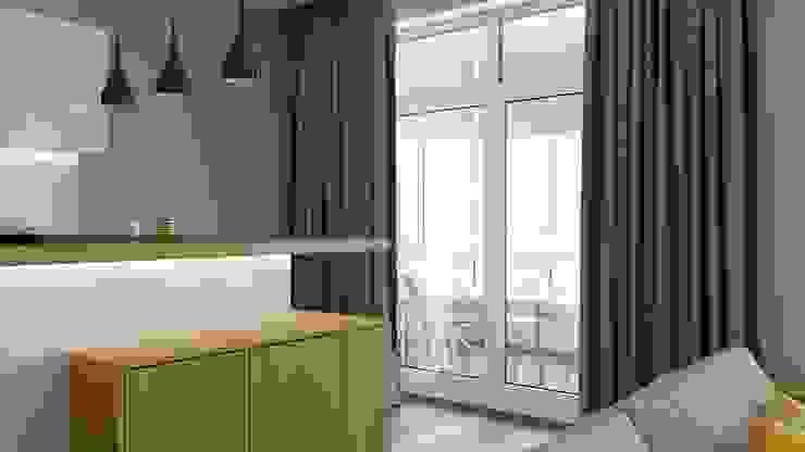 Hiên, sân thượng phong cách tối giản bởi Kristina Petraitis Design House Tối giản
