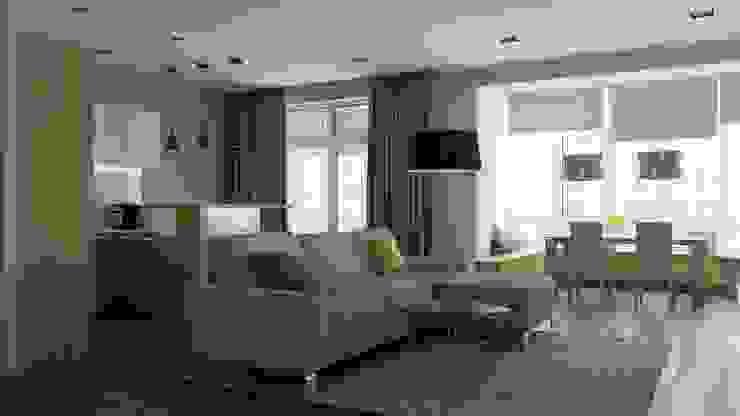 Phòng khách phong cách tối giản bởi Kristina Petraitis Design House Tối giản