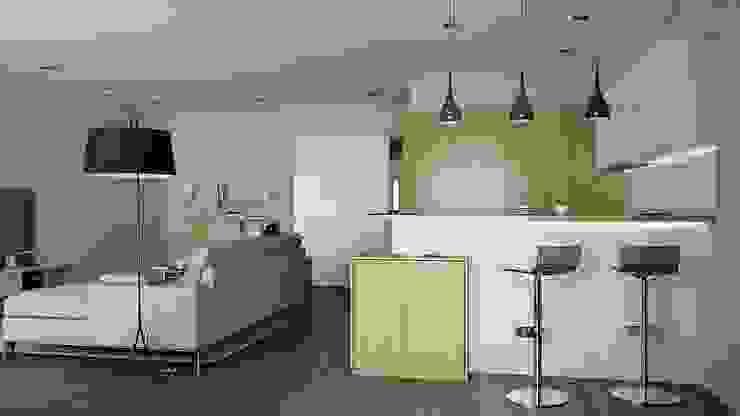 Cocinas de estilo minimalista de Kristina Petraitis Design House Minimalista