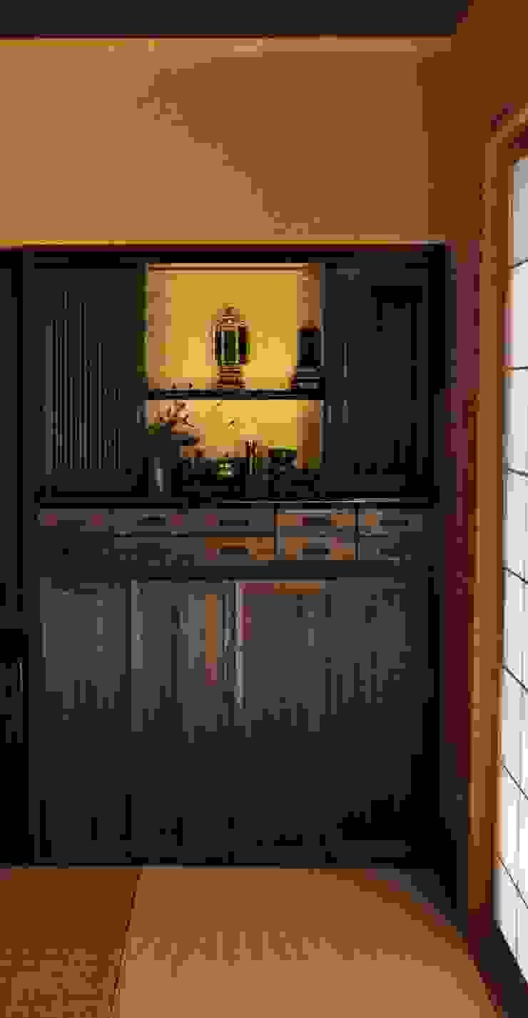 先祖礼拝用の造り仏壇: 樹・中村昌平建築事務所が手掛けた現代のです。,モダン