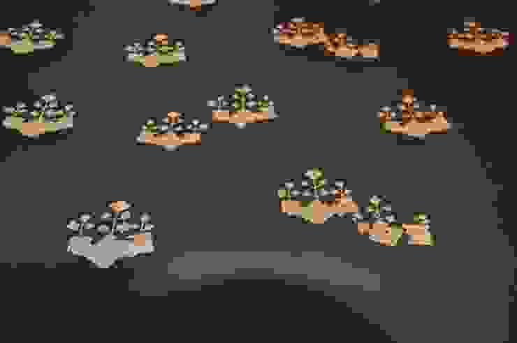 紋様拡大 ・黄土(おうど)キラ摺り (山崎商店): 樹・中村昌平建築事務所が手掛けた現代のです。,モダン