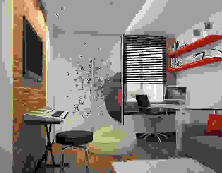 коттедж пос.Кисловка,томск 2014 Рабочий кабинет в классическом стиле от IDstudio Классический