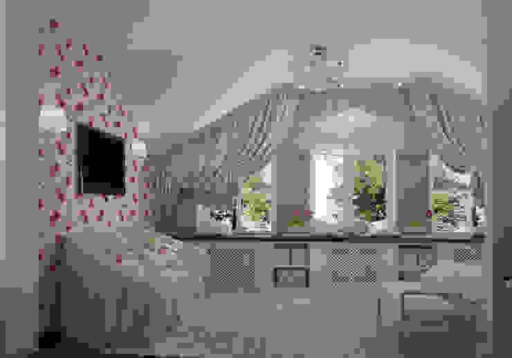 коттедж пос.Кисловка,томск 2014 Спальня в классическом стиле от IDstudio Классический