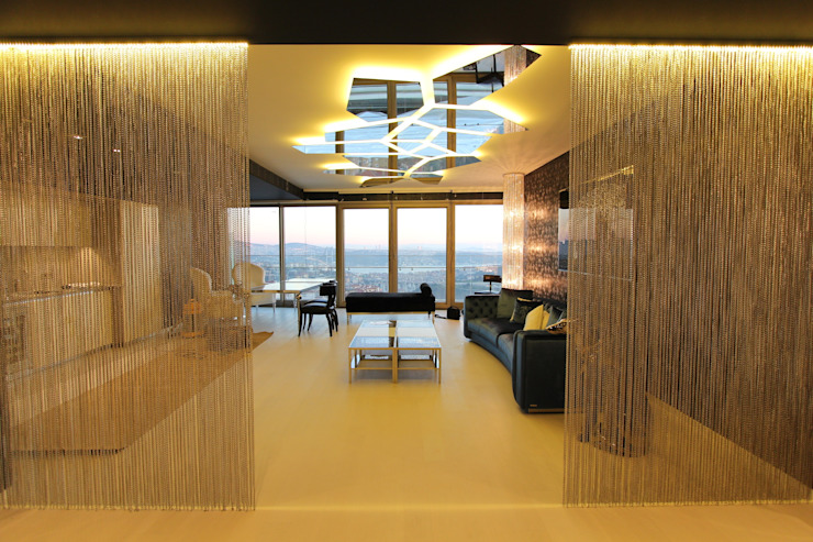 Private residence in İstanbul Salon moderne par Orkun İndere Interiors Moderne