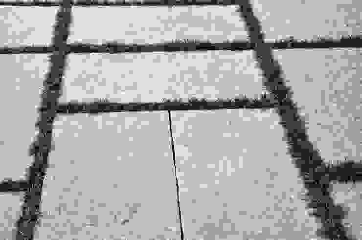 デッキの下の石畳。 オリジナルな 庭 の 有限会社 温室 オリジナル