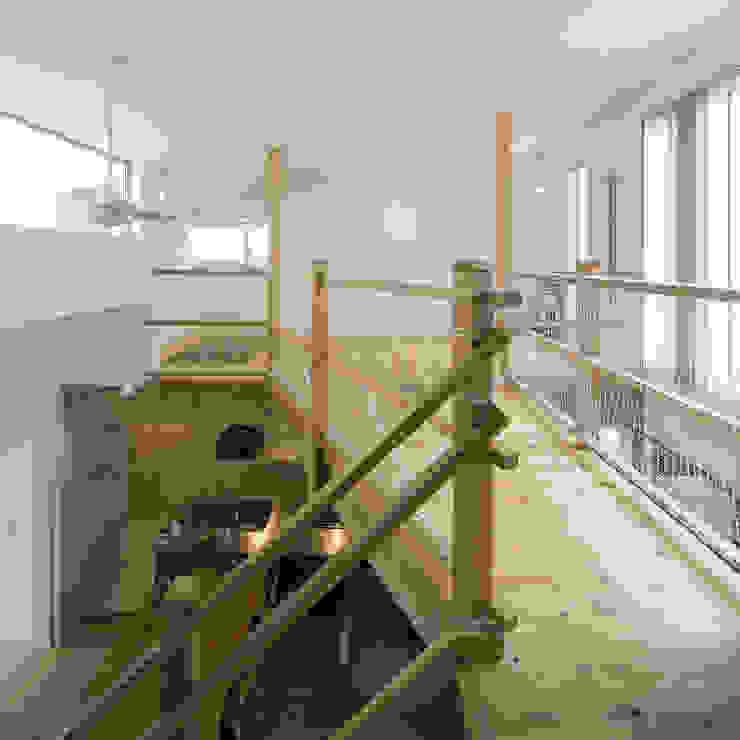 ブリッジ モダンスタイルの 玄関&廊下&階段 の 岩瀬隆広建築設計 モダン