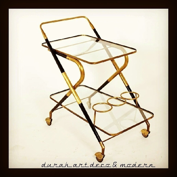 durak art deco & modern – Serving Trolley Designed By Cesare Lacca ( Italy 50's): modern tarz , Modern