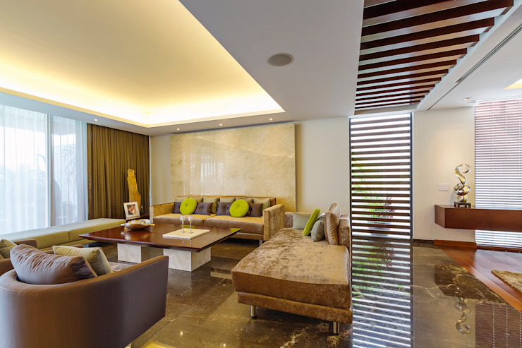 Salas modernas de Enrique Cabrera Arquitecto Moderno