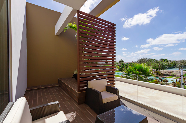 Moderner Balkon, Veranda & Terrasse von Enrique Cabrera Arquitecto Modern