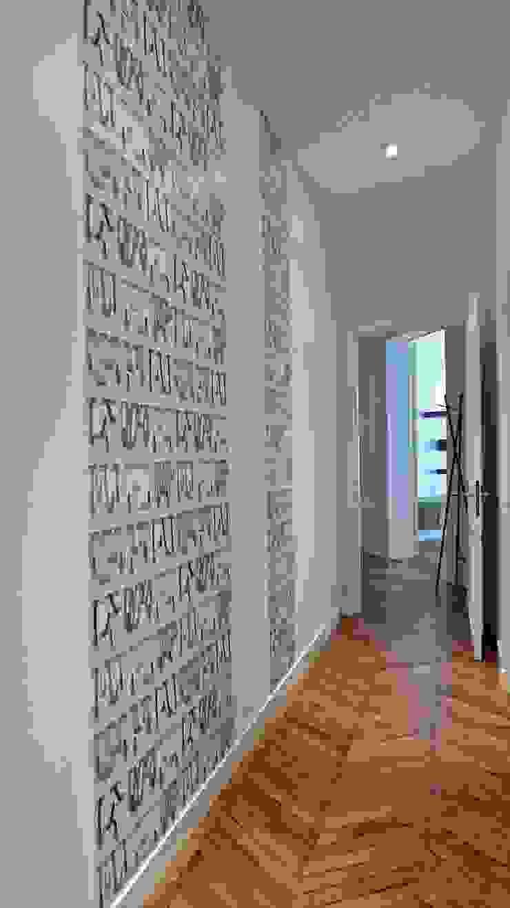 Papier Peint Entree Moderne décoration d'un appartement haussmannien, parisfella