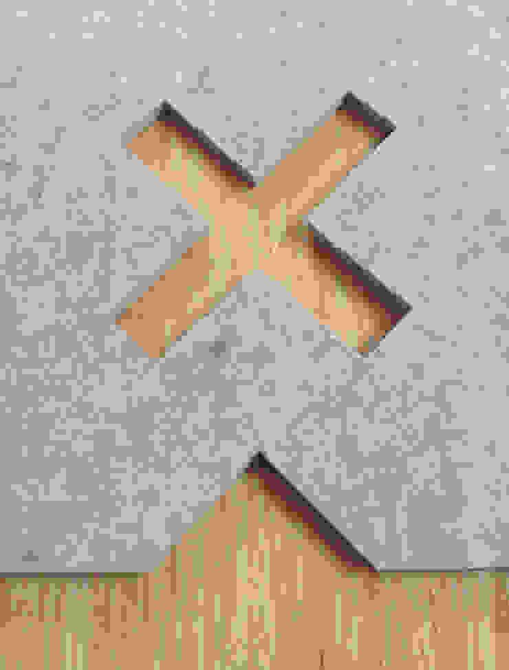 Detail uitsparing van vloerkleed Kisses op een houten vloer van Evelien Lulofs Scandinavisch