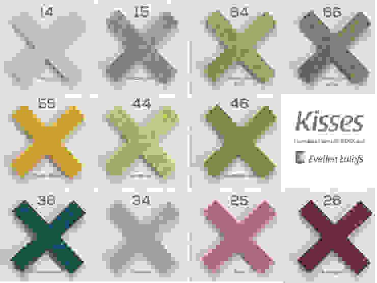 Mogelijk accentkleuren voor vloerkleed Kisses, hét vloekleed voor karakter in huis en kantoor van Evelien Lulofs Scandinavisch