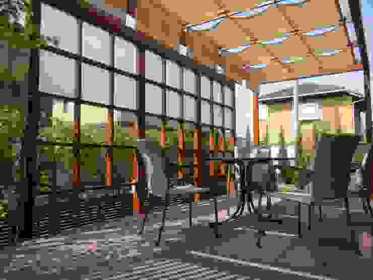 outdoor living 『おうちカフェ』 U-garden.〈内観〉 オリジナルな 庭 の フラワーチルドレン(Flower children ) オリジナル