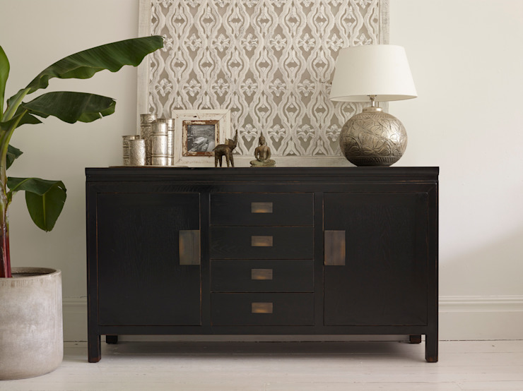 Small Canton Black Sideboard: asian  by LOMBOK, Asian
